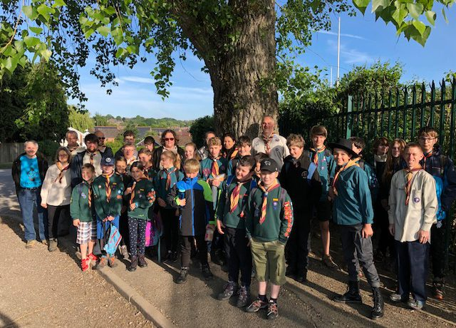 1st Alton Manor Cubs and Scouts following the footsteps of Baden-Powell